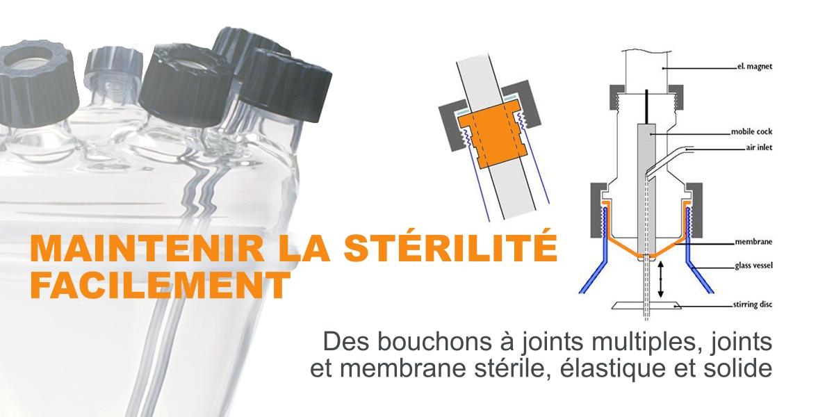 Bioréacteur: Maintenir la stérilité facilement