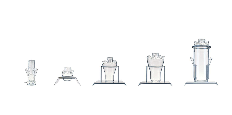 Bioreaktorgefässe für LAMBDA MINIFOR - unterschiedliche Volumen