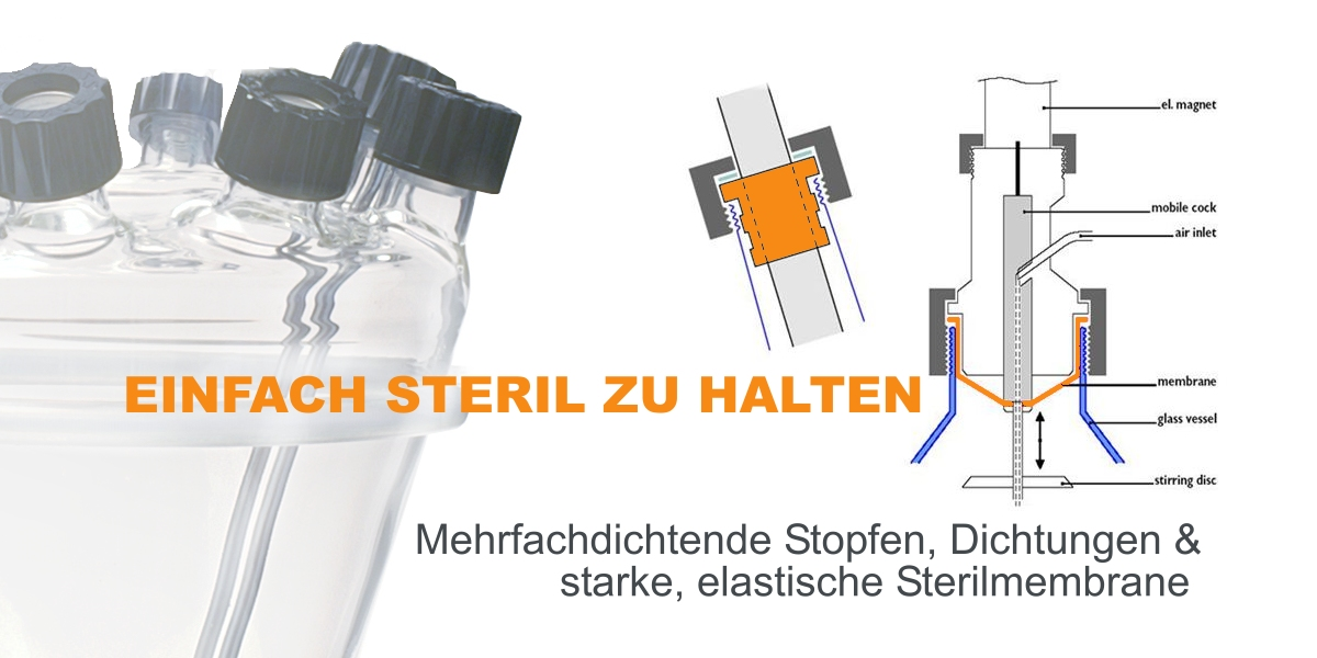 Einfache Sterilität am Bioreaktor mit LAMBDA Mehrfachdichtung