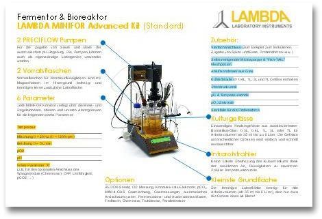 PDF Broschüre Laborfermenter Bioreaktor LAMBDA MINIFOR