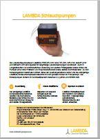 Brochure pompes péristaltiques de laboratoire de LAMBDA (PDF téléchargement)
