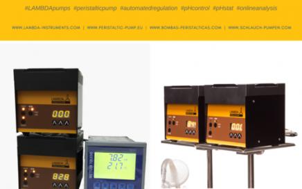 Biotechnologisches Labor: Dosierpumpen für den pH-Regler im Laborfermenter